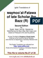 En 27 Majmoo AlFatawa IbnBaz