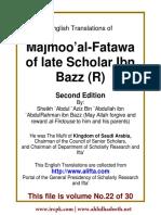 En 22 Majmoo AlFatawa IbnBaz