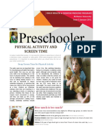 preschool physical activity and screen time