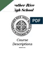 Brother Rice Course Descriptions