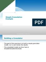 Simple Granulation Example