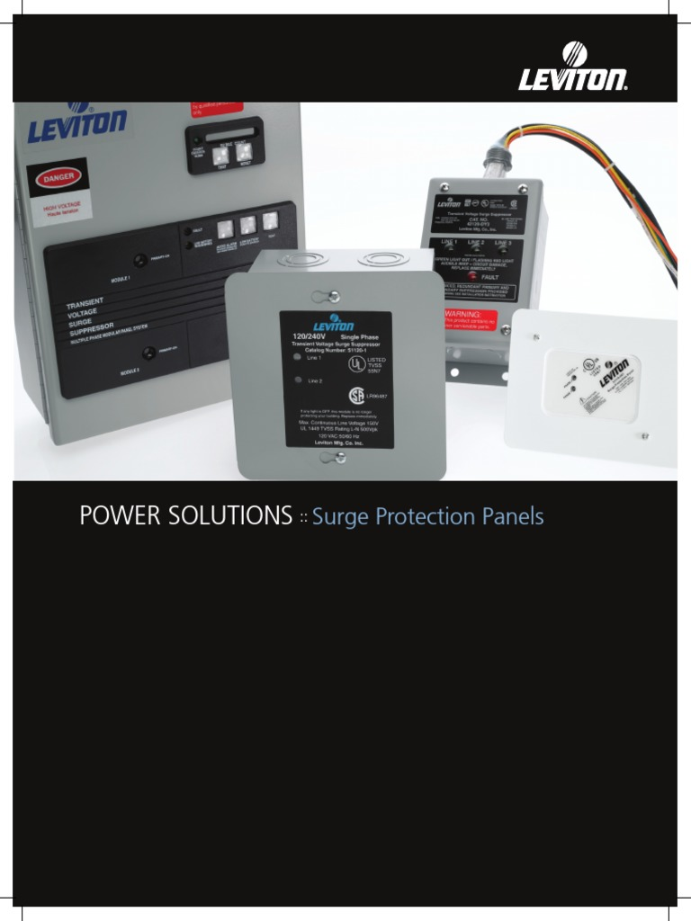 Leviton 120//240V Multimedia résidentiel Surge Protection Panel 51110-PTC