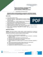 Requisitos Proyectos Agua 2017