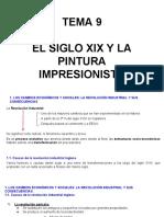 Tema 9 El Siglo Xix y La Pintura Impresionista