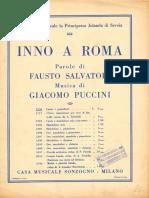 Inno a Roma - Puccini