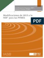 Modificaciones Niif Para Las Pymes 2015