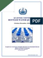 Bottled Water Report Oct-Dec. 2016