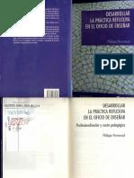 Desarrollar La Práctica Reflexiva en El Oficio de Enseñar - Philippe Perrenoud Adobe