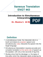 Introduction to Simultaneous Interpreting