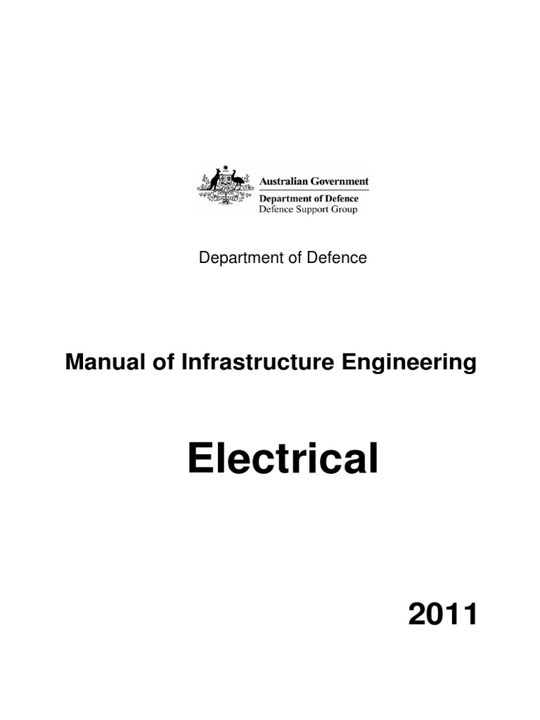 Electrical Engineering Manual For Defence Facilities Infrastructure Project 20 Or 40 Watt Fluorescent Tubes 8211 Inverter Infrastructurepdf Substation Electric Power Distribution