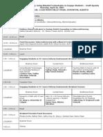 VC Workshop April 26 - Draft Agenda
