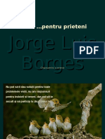Jorge Luis Borges Poem Pentru Prieteni