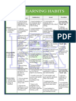 poster learning-based recognition rubric