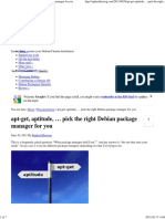 Apt-get, Aptitude, … Pick the Right Debian Package Manager for You