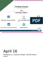 Lecture Slides - Change Management