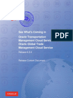 Oracle TransportationManagement RCD