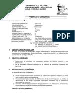 Programa Mat 215 2016