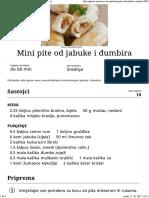 Mini Pite Od Jabuke i Đumbira - Recepti - Gastro