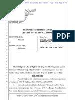 Highwave  v. Telebrands - Complaint