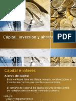 Capital, Inversion y Ahorro