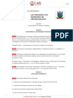 Lei Organica 1 1997 Urussanga SC