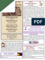 February 19 2017 Bulletin