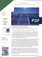 Ciencia Hoy Energía Solar Fotovoltaica - Ciencia Hoy