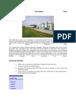 Vaccine Formulation Plant