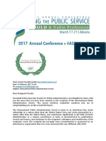 International Public Administration Award Notification for Prof. Prajapati Trivedi