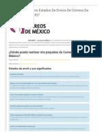 ¿Qué Significan Los Estados de Envíos de Correos de México (SEPOMEX)