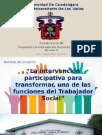Proyecto Trabajo Social en el ámbito escolar
