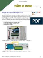 Projeto Arduino Com Display LCD