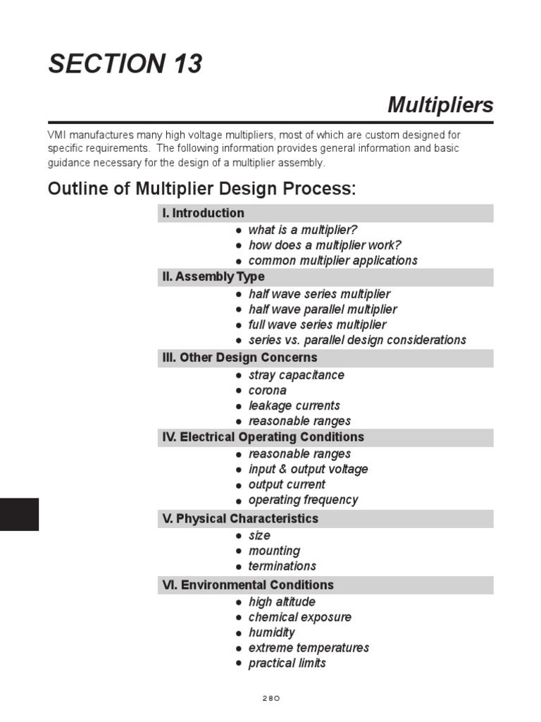Multiplier Design Guideline1 Capacitor Direct Current Voltage Multipliers