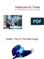 Priming Healthcare for Twitter