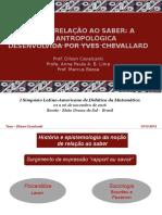 APRESENTAÇÃO - LADIMA _ 2016 - A noção de relação ao saber