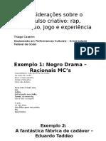 Exemplos_apresentação IV Simpósio de Estética Da PUC-SP