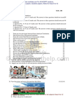 Political Science Question Paper 2015