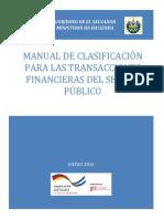 DC6038 Manual de Clasificacion Para Las Transacciones Financieras Del Sector Publico
