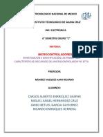Investigación e Identificación Las Principales Características (Recursos) Del Microcontrolador Pic 877a