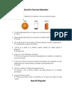 Guía de Ciencias Naturales