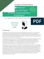 mindset can impact perceptions of student behavior