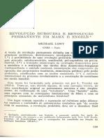 Löwy - Revolução Burguesa e Revolução Permanente Em Marx e Engels