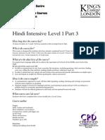 Hindi Intensive Level 1 Part 3