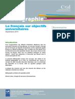 Bibliographie Francais Sur Objectifs Universitaires