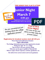 Junior Night Flyer 2017