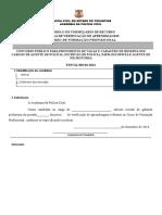 Prova de Verificação de Aprendizagem - Formulário Para Recurso