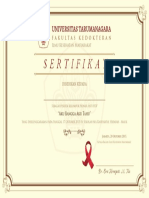 Sertifikat Untar Anti HIV