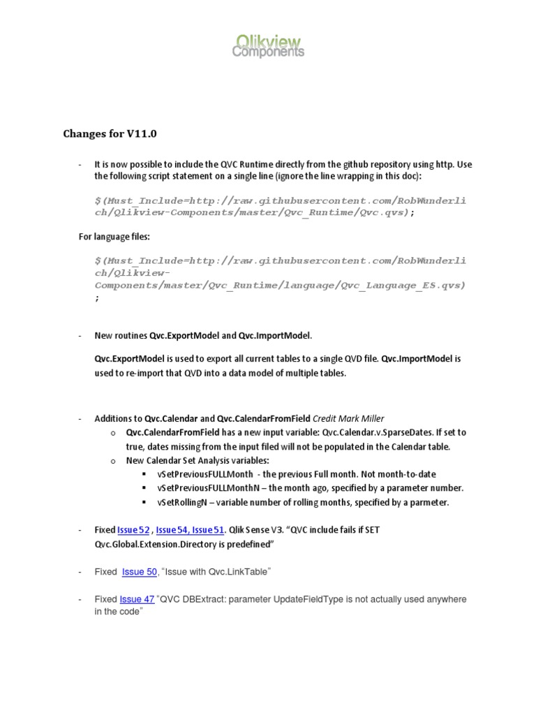 Qlikview components release notes V11   Parameter (Computer