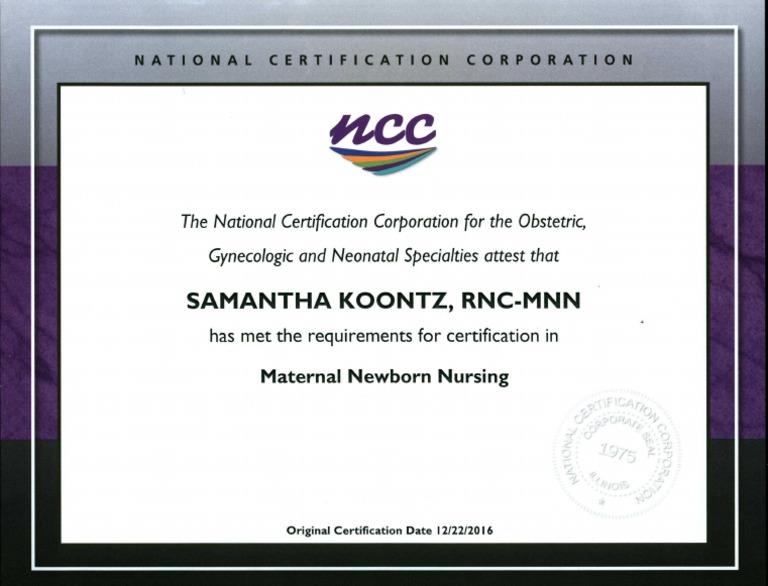rnc certificate