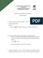1 Lista de Exercicios_Cinética e Reatores II